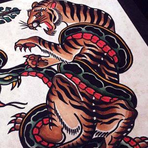 Hilde Neunteufel Tattoo Tiger Print