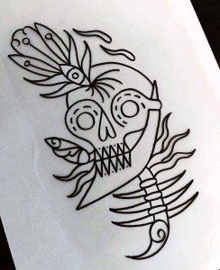 Stefan Skipbrudden Tattoo Totenkopf